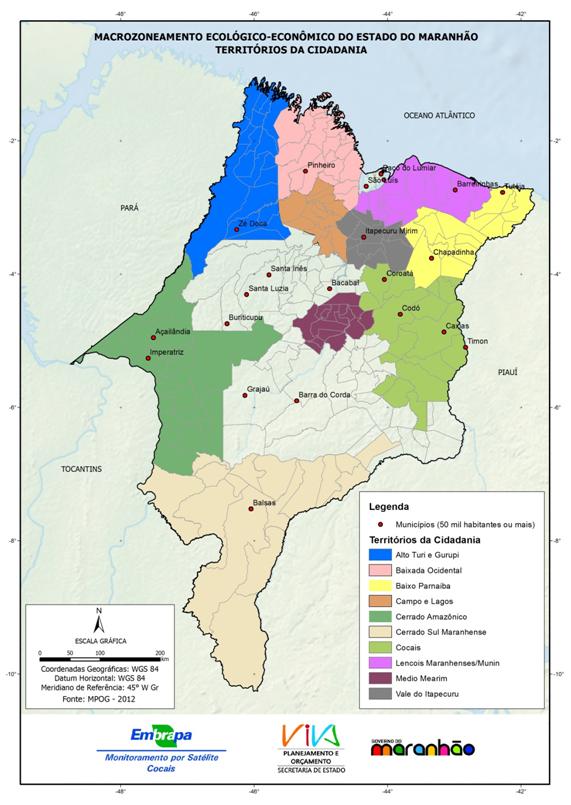 Territórios da Cidadania do Estado do Maranhão-(2012)