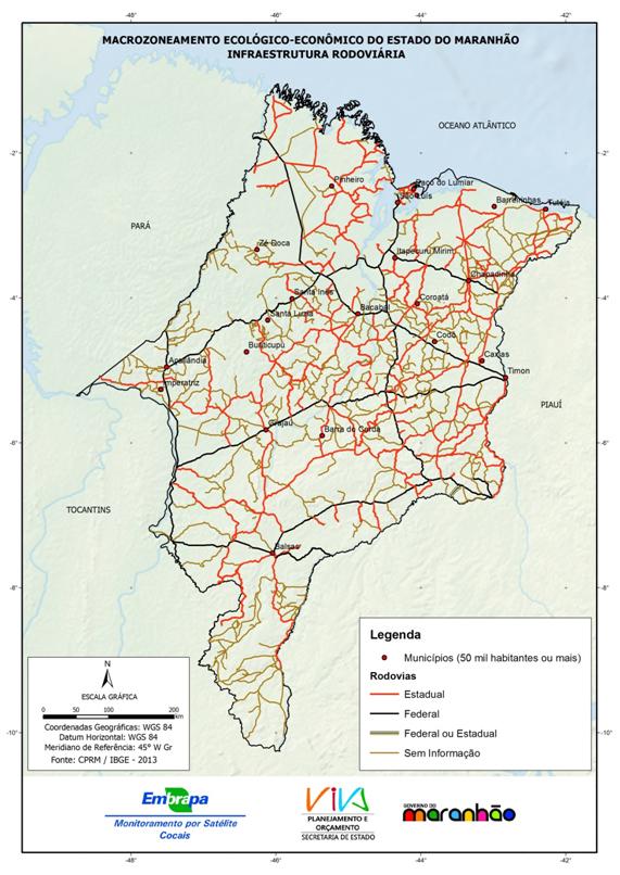 Infraestrutura rodoviária do Estado do Maranhão - (2013)