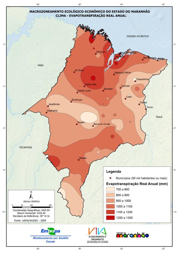 Evapotranspiração real anual - (2009)