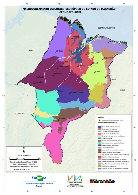 Geomorfologia do Estado do Maranhão - (2013)