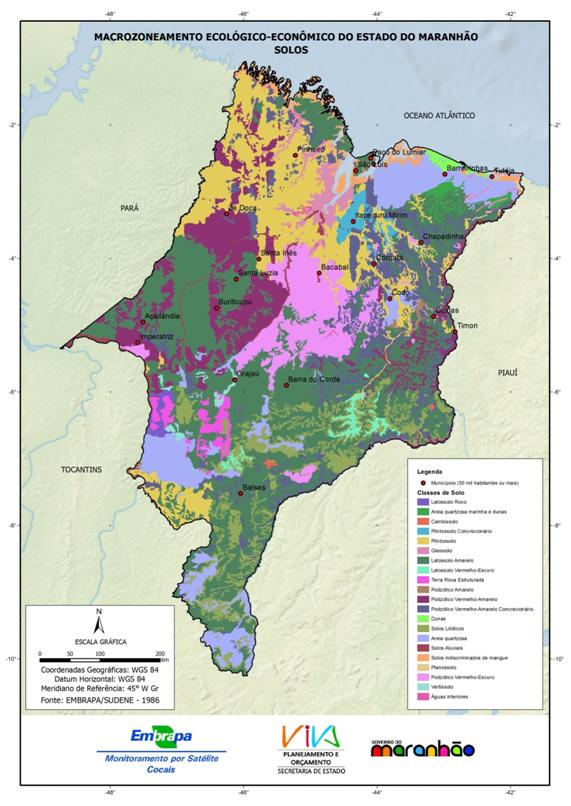 Mapa de solos simplificado do Estado do Maranhão - (1986)