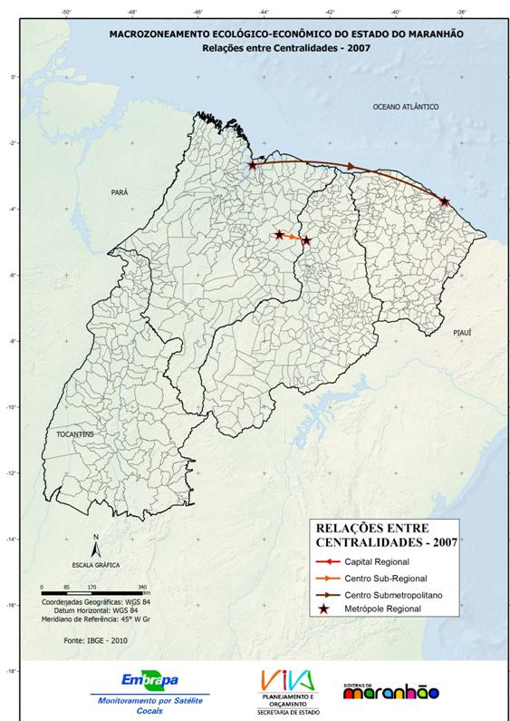 Relações entre centralidades, 2007-(2010)