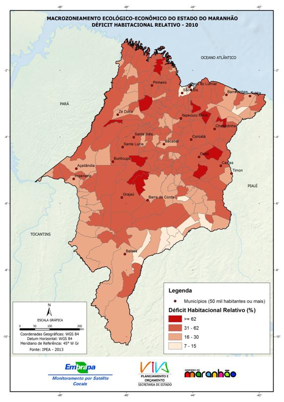 Déficit habitacional relativo no Estado do Maranhão – 2010