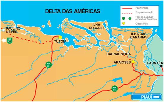 Localização do Delta das Américas, Maranhão